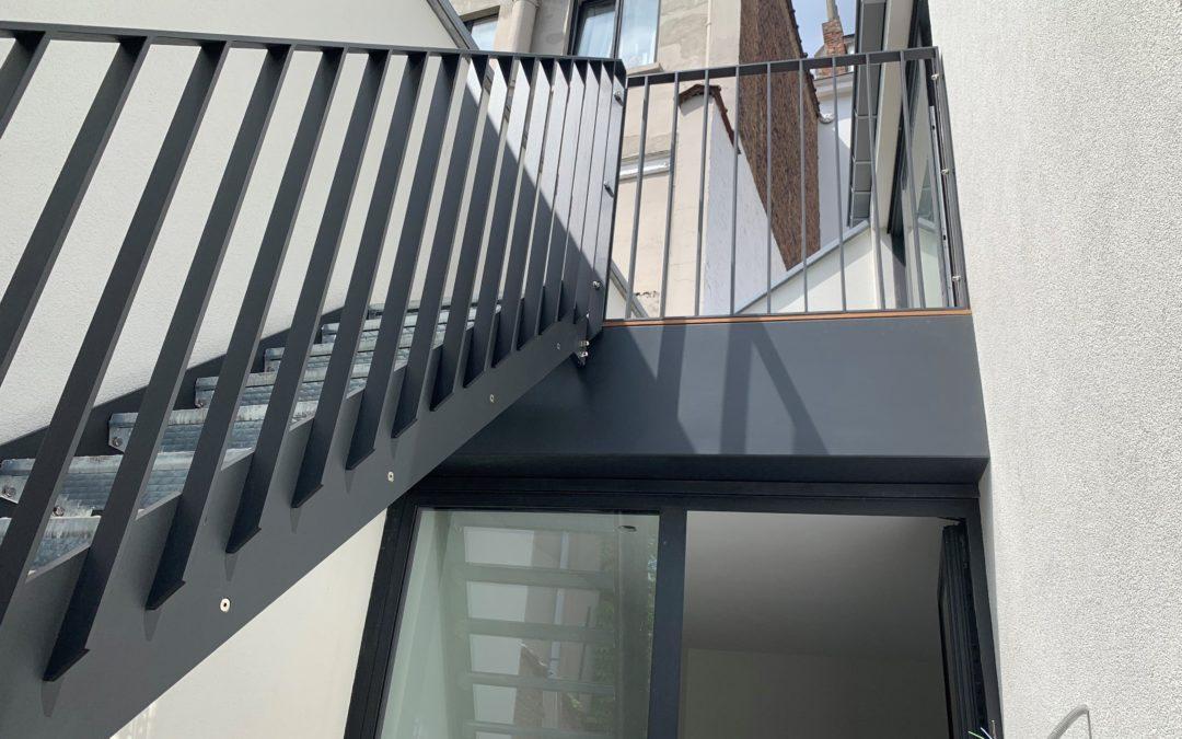 Un escalier et son garde corps: production de nos ateliers