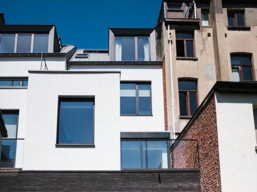 Transormation d'un immeuble appartement – magasin à Ixelles 2018-2019